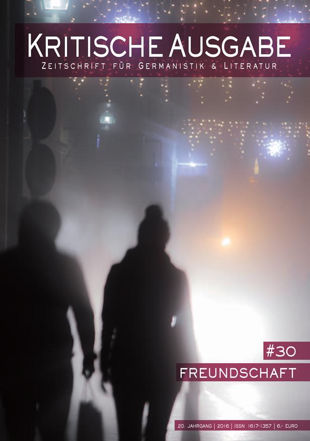 Kritische Ausgabe: »Freundschaft« (Cover)